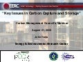 Key Issues in Carbon Capture and Storage