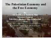 The Palestinian Economy and Free Ec...
