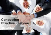 Conducting Effective interview