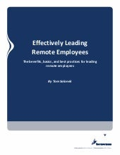 Effectively leading remote employees