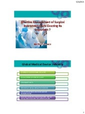 Effective management of surgical instruments