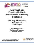 Effective Mobile & Social Media Marketing Strategies - Handout Reference Materials