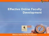 Effective Online Faculty Training