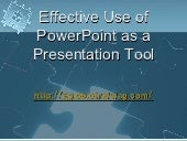 Effective use of power point as a p...