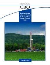 CBO: The Economic and Budgetary Effects of Producing Oil and Natural Gas from Shale (Dec 2014)