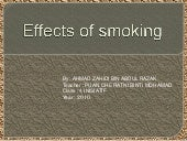 Effects of smoking by ahmad zahidi