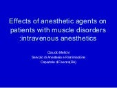 Effects of the anesth agents on pat...