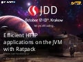 Efficient HTTP applications on the JVM with Ratpack - JDD 2015
