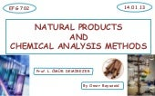 Natural product and chemical analys...