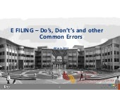 E filing d os,donts and common errors