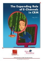 EFMA 2011 Growing CRM Role