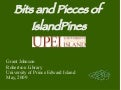 Bits and Pieces from the UPEI Experience