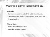 Creating a game using C++, OpenGL a...