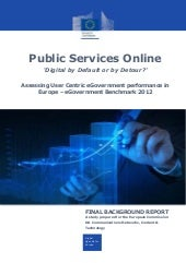 Europe – eGovernment Benchmark 2012...