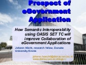 Semantic challenges in eGovernment ...