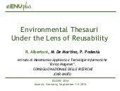 Environmental Thesauri Under the Lens of Reusability (EGOVIS 2014)