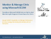 Monitor & Manage Citrix Application Performance Using Microsoft SCOM