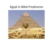 Egypt in bible prophecies