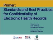 Standards and Best Practices for Confidentiality of Electronic Health Records