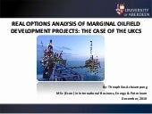 REAL OPTIONS ANALYSIS OF MARGINAL O...