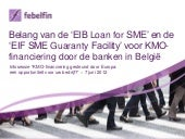 Eib loan for sme   eif sme guaranty...