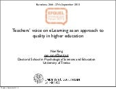 Teachers' Voice on eLearning as an ...