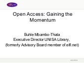 Eifl Open Access Presentation