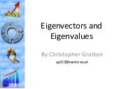Eigenvectors & Eigenvalues: The Roa...