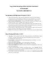 Eighth Amendment Bill  to the Beliz...