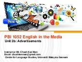 English in the Media: Advertising Techniques