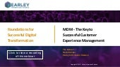 MDM - The Key to Successful Customer Experience Managment
