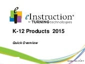 Eitt k 12 products 2015-Short Overview