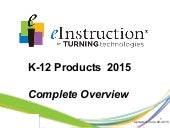 eITT K12 Products 2015 Compllete Overview