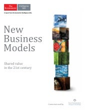 New business models: Shared value in the 21st century