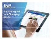 Rethinking HR in a Changing World