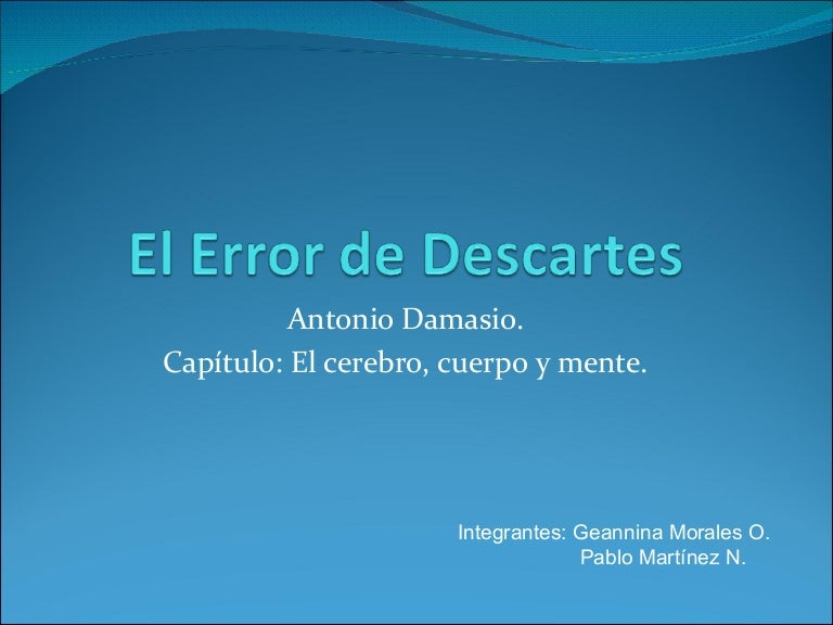 damasio el error de descartes epub files