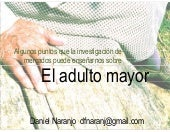 El Adulto Mayor