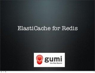 ElastiCache for redisを本番導入してみました