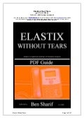 Elastix Without Tears
