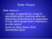 Elder Abuse Power Point
