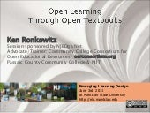 Open Learning Through Open Textbooks