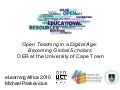 Institutionalizing OER at the University of Cape Town