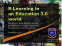 E-Learning in an Education 3.0 World