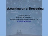eLearning on a Shoestring