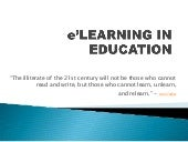 E'learning in education