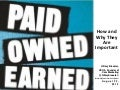 POEM- Paid Owned and Earned Online Media