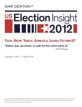 US Election insight 2012