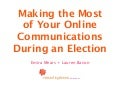 Making the Most of Your Online Communications During an Election
