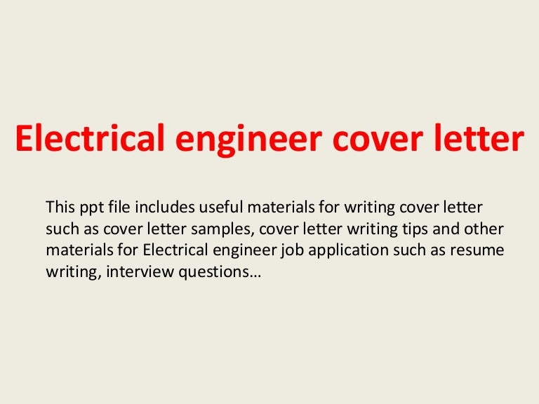 Electrical Designer Cover Letter. Electrical Engineer Cover Letter ...