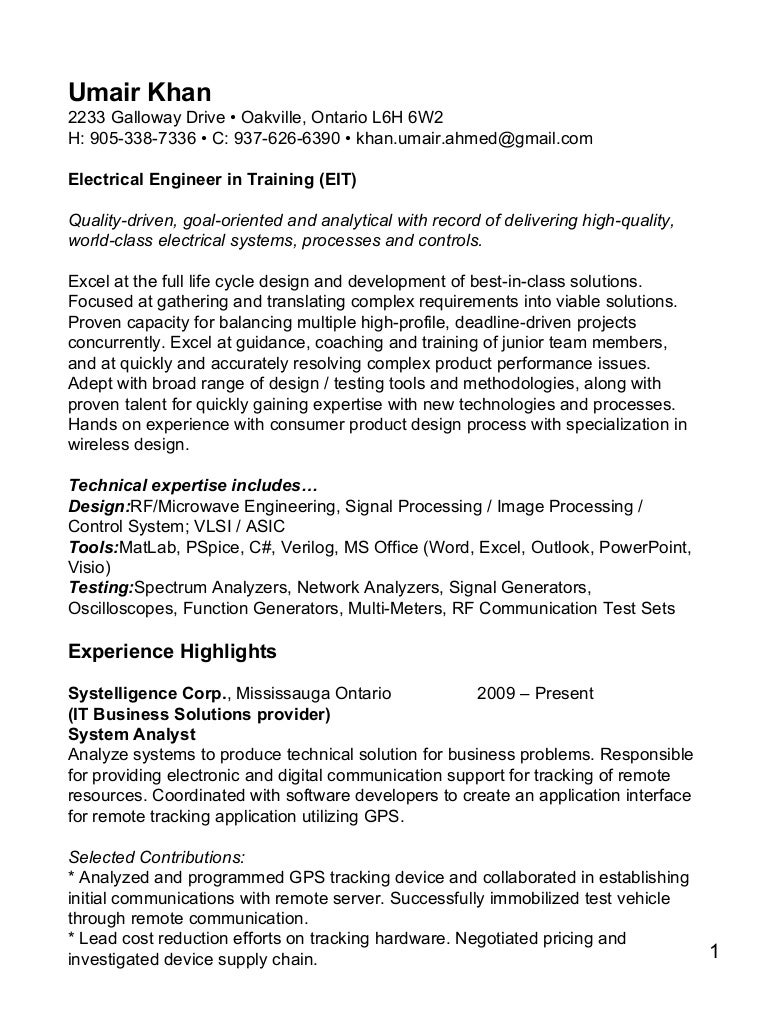 engineer in training resumes - Ideal.vistalist.co